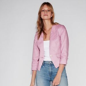 Express Cutaway Misty Lilac Purple Blazer